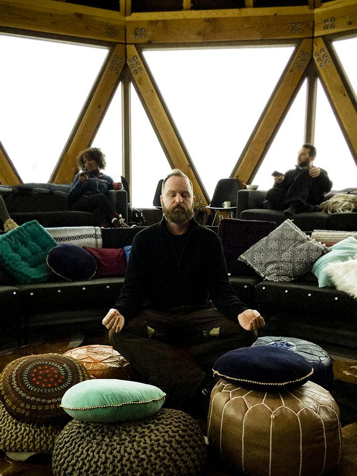 Adam Wester in Modern Yurt Powder Mountain