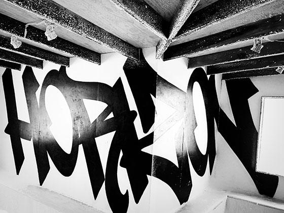 """Horizon"" mural by Faust a Graffiti Artist from New York."