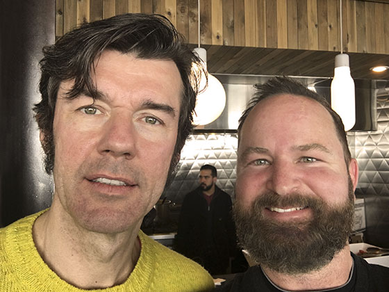 Adam Wester with Stefan Sagmeister